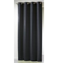 Rideau a oeillets 140 x 260 cm jacquard infini Noir