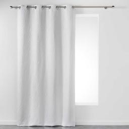 Rideau a oeillets 140 x 260 cm jacquard lexi Blanc