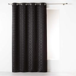 Rideau a oeillets 140 x 260 cm jacquard majestic Noir