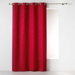 Rideau a oeillets 140 x 260 cm jacquard majestic Rouge