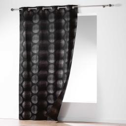 Rideau a oeillets 140 x 260 cm jacquard orianne Ardoise