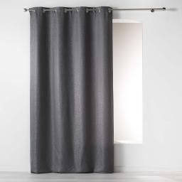 Rideau a oeillets 140 x 260 cm jacquard riad Anthracite