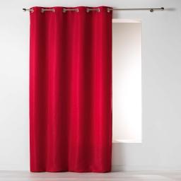 Rideau a oeillets 140 x 260 cm jacquard riad Rouge