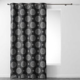 Rideau a oeillets 140 x 260 cm jacquard rosella Anthracite