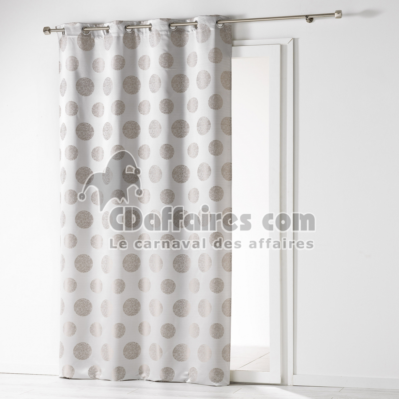 rideau a oeillets 140 x 260 cm jacquard satellis gris. Black Bedroom Furniture Sets. Home Design Ideas