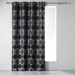 Rideau a oeillets 140 x 260 cm jacquard triomina Noir