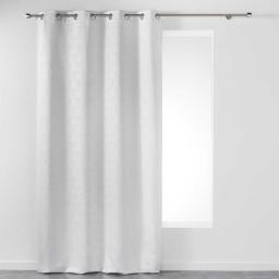 Rideau a oeillets 140 x 260 cm jacquard triomy Blanc