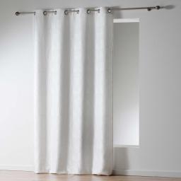 Rideau a oeillets 140 x 260 cm jacquard victoria Blanc