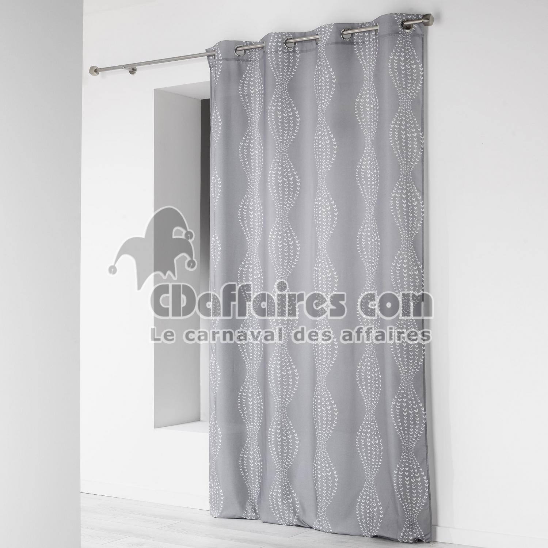 rideau a oeillets 140 x 260 cm microfibre imprimee lierra. Black Bedroom Furniture Sets. Home Design Ideas
