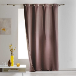 Rideau a oeillets 140 x 260 cm occultant isolant covery Taupe