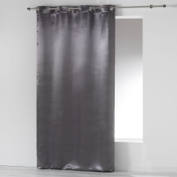 Rideau a oeillets 140 x 260 cm occultant satin satina Anthracite