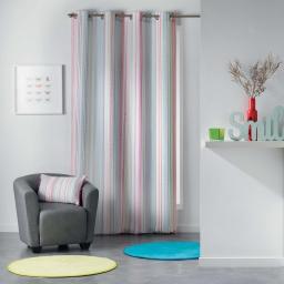 Rideau a oeillets 140 x 260 cm polyester imprime analea Multico