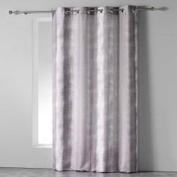 Rideau a oeillets 140 x 260 cm polyester imprime arc en ciel Taupe