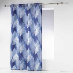 rideau a oeillets 140 x 260 cm polyester imprime blue automn