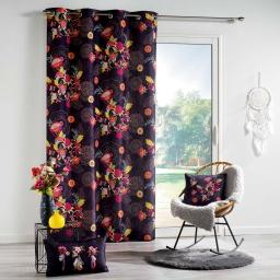 rideau a oeillets 140 x 260 cm polyester imprime botania