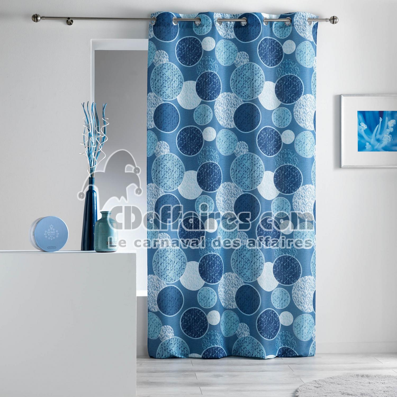 Rideau a oeillets 140 x 260 cm polyester imprime d f for Rideaux imprimes