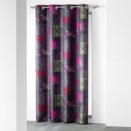 rideau a oeillets 140 x 260 cm polyester imprime d/f callista