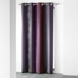 rideau a oeillets 140 x 260 cm polyester imprime d/f lolia