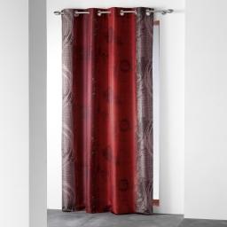 Rideau a oeillets 140 x 260 cm polyester imprime d/f nunoa Rouge