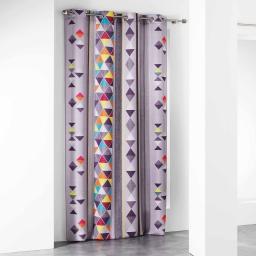 rideau a oeillets 140 x 260 cm polyester imprime d/f pops