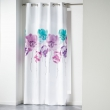 Rideau a oeillets 140 x 260 cm polyester imprime dounia Bleu, image n° 1