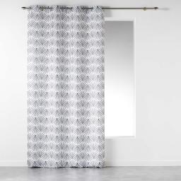 Rideau a oeillets 140 x 260 cm polyester imprime evy side Blanc