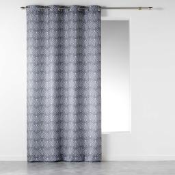 Rideau a oeillets 140 x 260 cm polyester imprime evy side Gris