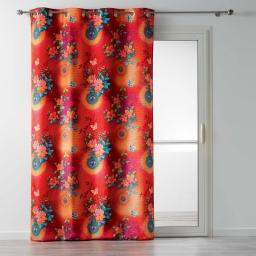 rideau a oeillets 140 x 260 cm polyester imprime fantasia