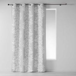 Rideau a oeillets 140 x 260 cm polyester imprime farandole Taupe