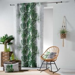 rideau a oeillets 140 x 260 cm polyester imprime guyane