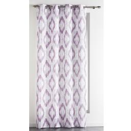 Rideau a oeillets 140 x 260 cm polyester imprime ikat Parme