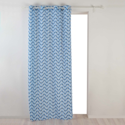 Rideau a oeillets 140 x 260 cm polyester imprime jodie Blanc