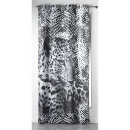 rideau a oeillets 140 x 260 cm polyester imprime leopard des. place