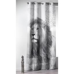 rideau a oeillets 140 x 260 cm polyester imprime lion des. place