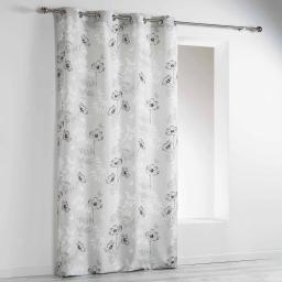 rideau a oeillets 140 x 260 cm polyester imprime madina