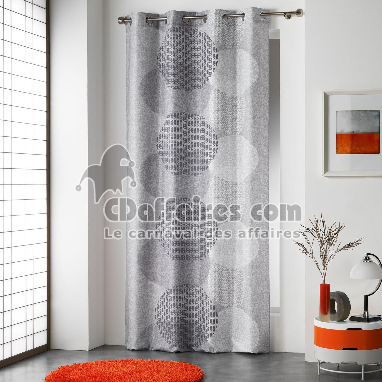 rideau a oeillets 140 x 260 cm polyester imprime misaki cdaffaires. Black Bedroom Furniture Sets. Home Design Ideas