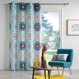 rideau a oeillets 140 x 260 cm polyester imprime mixi