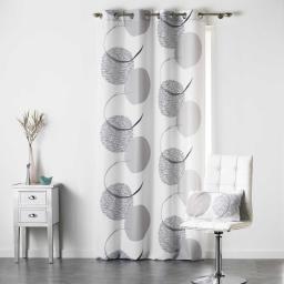 rideau a oeillets 140 x 260 cm polyester imprime mondo