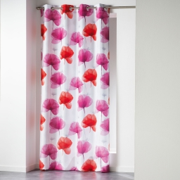 Rideau a oeillets 140 x 260 cm polyester imprime natae Rouge