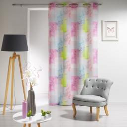 rideau a oeillets 140 x 260 cm polyester imprime pasteline