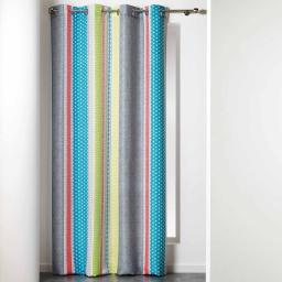 rideau a oeillets 140 x 260 cm polyester imprime polynesie