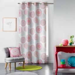 Rideau a oeillets 140 x 260 cm polyester imprime romana Multico