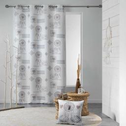 rideau a oeillets 140 x 260 cm polyester imprime samos