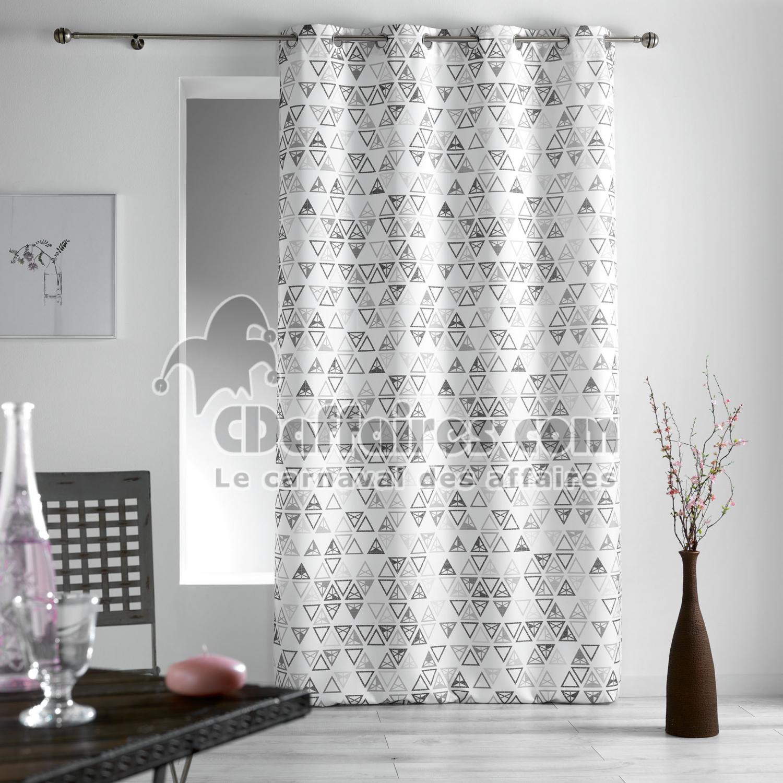 Rideau a oeillets 140 x 260 cm polyester imprime tiempo for Rideaux imprimes
