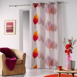 rideau a oeillets 140 x 260 cm polyester imprime vegetis