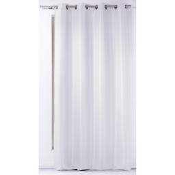 Rideau a oeillets 140 x 260 cm polyester uni punchy Blanc