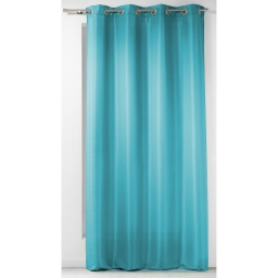 Rideau a oeillets 140 x 260 cm polyester uni punchy Bleu