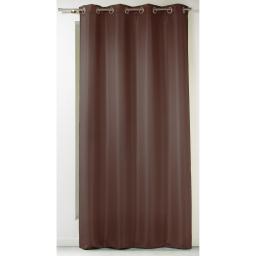 Rideau a oeillets 140 x 260 cm polyester uni punchy Choco