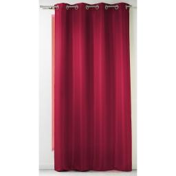 Rideau a oeillets 140 x 260 cm polyester uni punchy Rouge