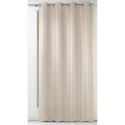 Rideau a oeillets 140 x 260 cm polyester uni punchy Sable